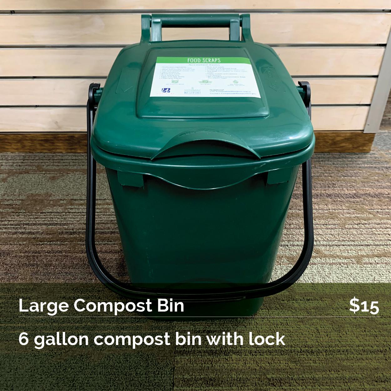 Large 6-gallon Compost Bin