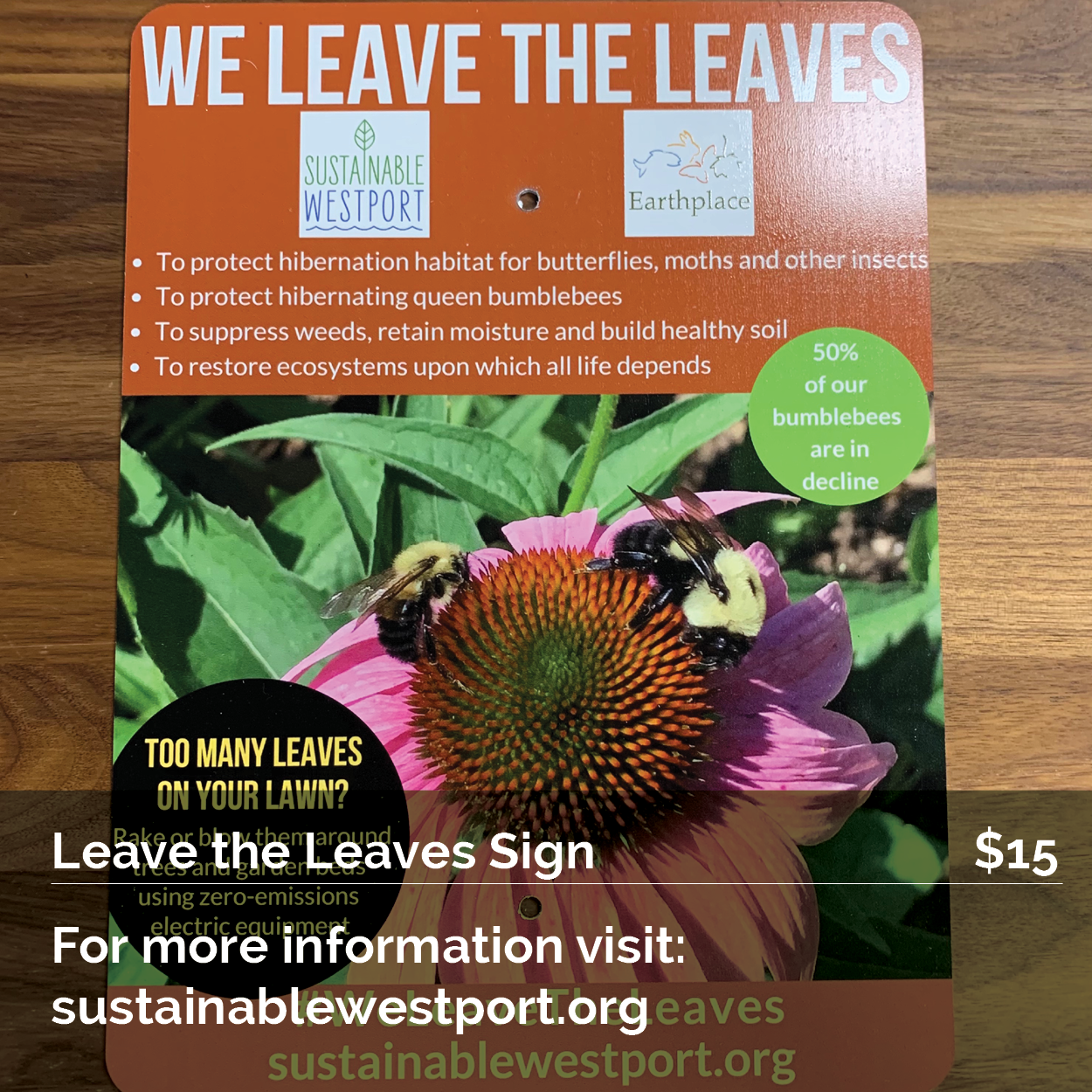 Leave the Leaves Sign