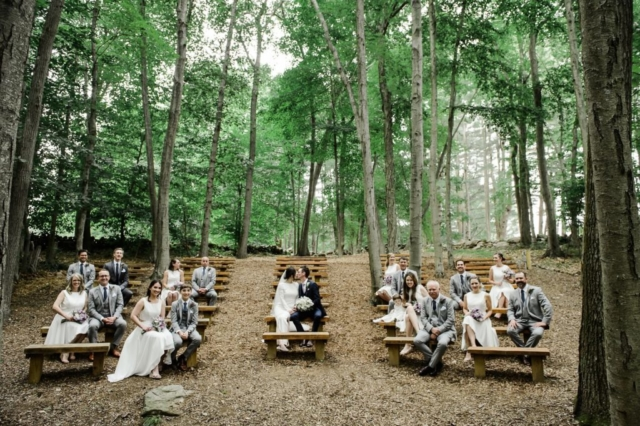 Wedding Party in Amphitheater